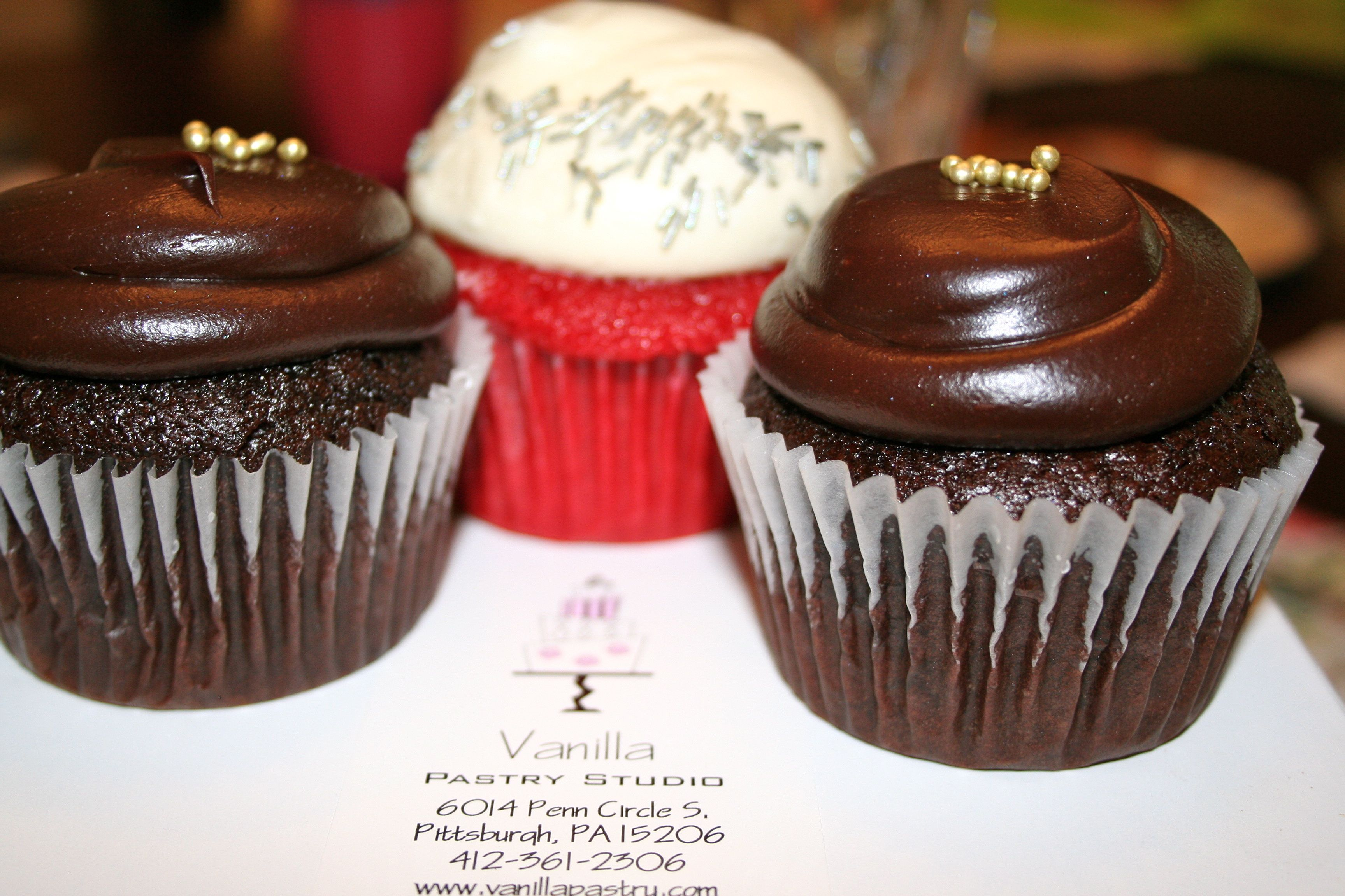Double Fudge Chocolate and Red Velvet Cupcakes