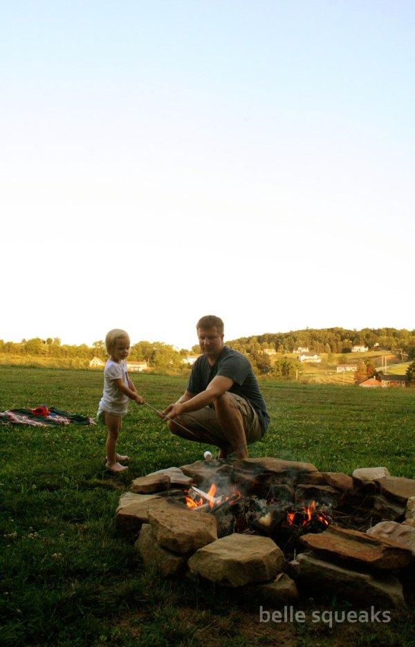 cousin camp bonfire